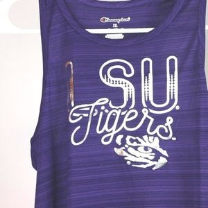 Shirts & Tops - LSU Tigers Girls Scoop Neck Racer Back Tank Top